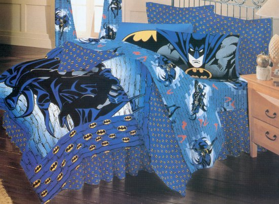 batman twin bed skirt. Black Bedroom Furniture Sets. Home Design Ideas