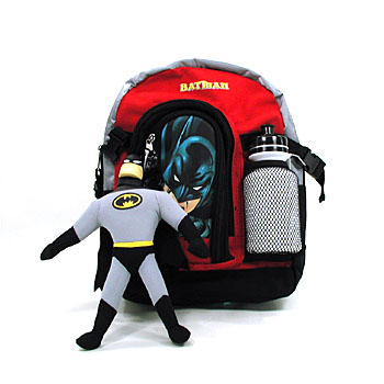 318a28ff2859 Batman Mini Backpack with Toy   Sports Bottle